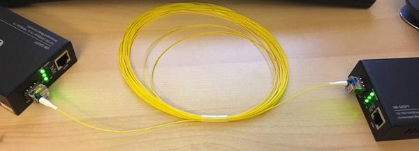 Adding a fiber link to my home network