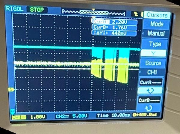 voltage-divided SCS signal