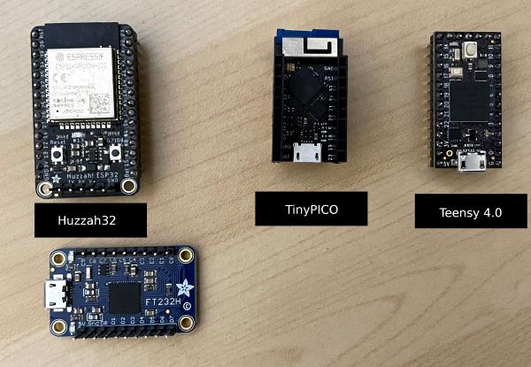 TinyPICO comparison with Adafruit Huzzah32 and Teensy 4.0