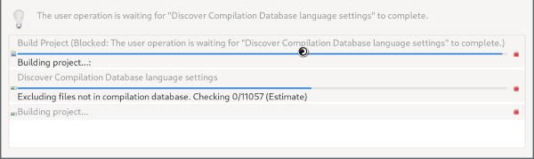 Compilation Database exclusion slow